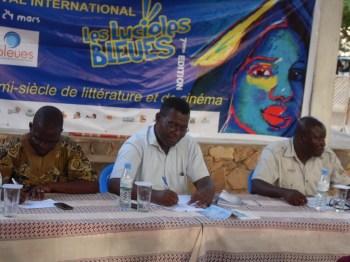 De gauche à droite, Anas Atakora, Souley GBeto, Kofi Boko