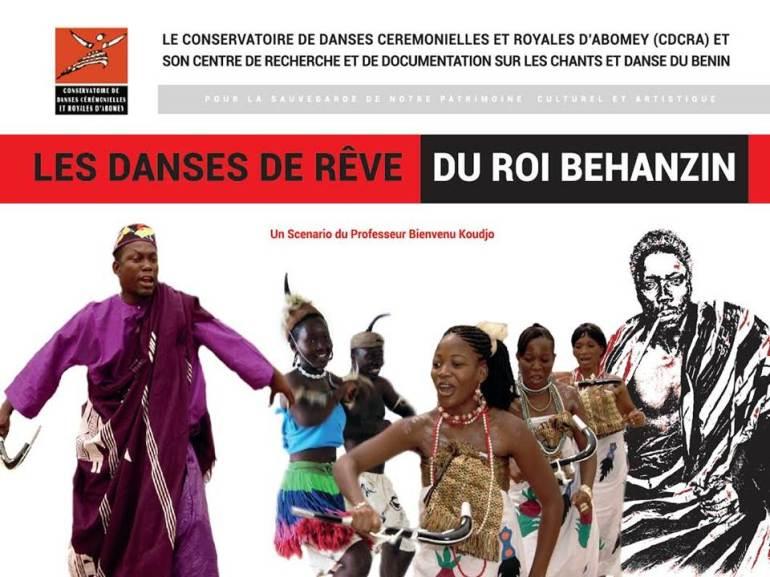 Affiche Danses de rêve du Roi Béhanzin